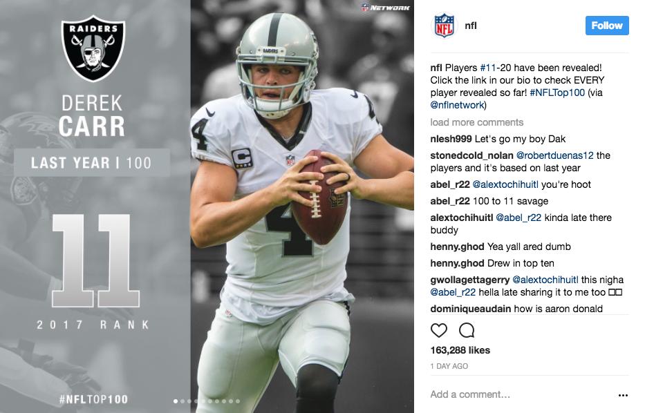 NFL instagram captions