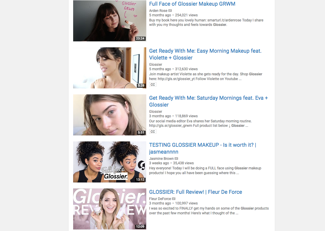 marketing we love: Glossier social media