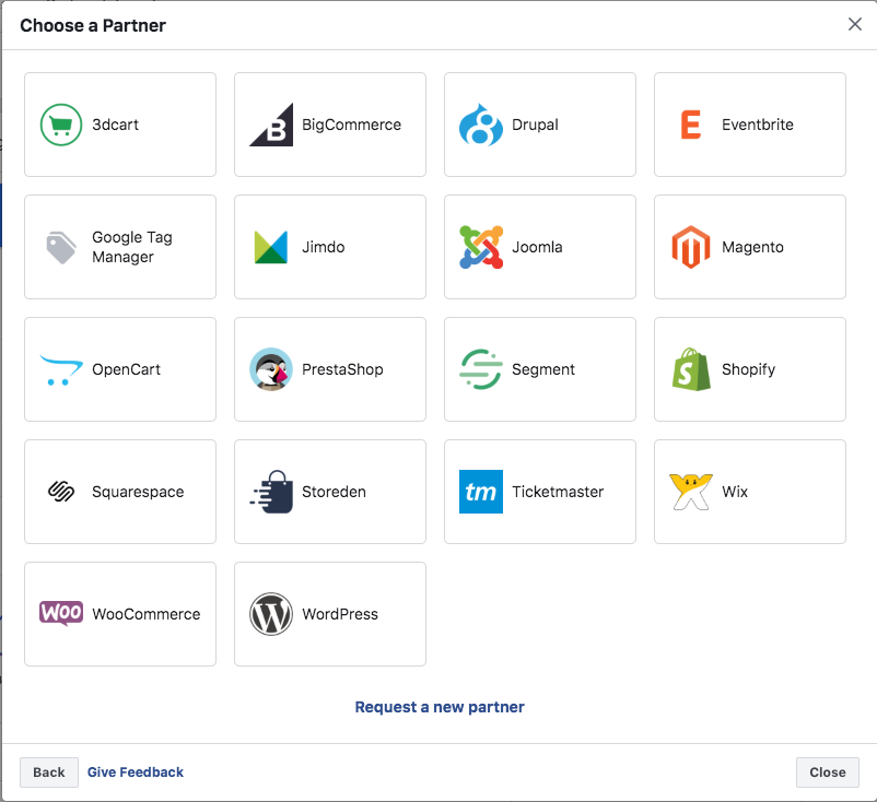 Facebook integrations manager