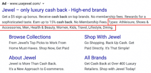 structured snippets google ads holiday marketing